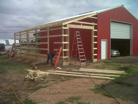 Jeffrey Detail 32x40 Pole Barn Plans